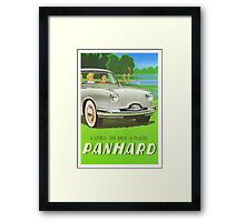 Fifties classic car Panhard from France  Framed Print