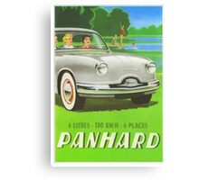 Fifties classic car Panhard from France  Canvas Print