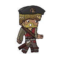 Cartoon Minecraft Pirate Photographic Print