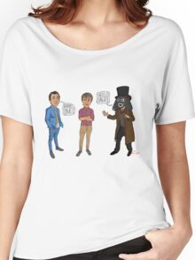 Only Fools & Horses / League of Gentlemen Mashup! Rodney, Trigger & Papa Lazarou Women's Relaxed Fit T-Shirt