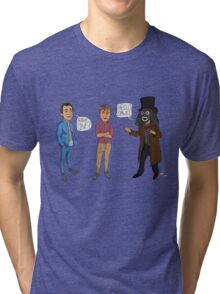 Only Fools & Horses / League of Gentlemen Mashup! Rodney, Trigger & Papa Lazarou Tri-blend T-Shirt