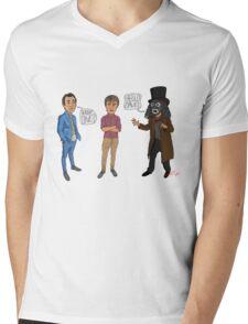Only Fools & Horses / League of Gentlemen Mashup! Rodney, Trigger & Papa Lazarou Mens V-Neck T-Shirt