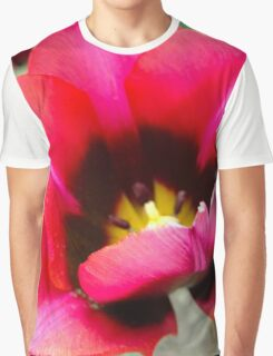 Colourful Tulip Close Up Graphic T-Shirt