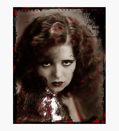 Clara in Red Lace Photographic Print