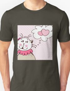 Cat in love card graphic T-Shirt