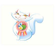 Social cat Art Print