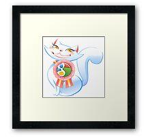 Social cat Framed Print
