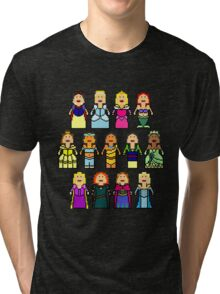 8-Bit Princesses Tri-blend T-Shirt
