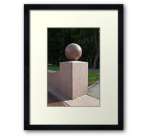 granite ball geometric sculpture  Framed Print