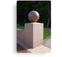 granite ball geometric sculpture  Canvas Print