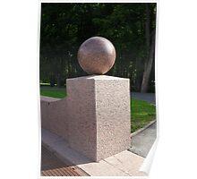granite ball geometric sculpture  Poster