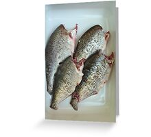 fresh gutted fish  Greeting Card