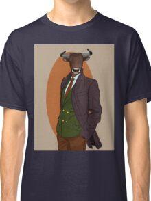 Retro Bull man. Antropomorphic print Classic T-Shirt