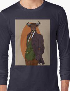 Retro Bull man. Antropomorphic print Long Sleeve T-Shirt