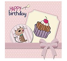 Cartoon birthday cards Photographic Print