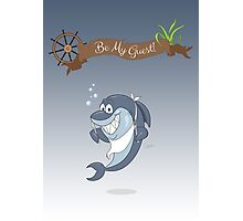 Cartoon Shark Photographic Print