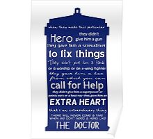 A Hero like the Doctor, Doctor Who Poster