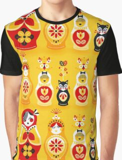 Russian Nesting Dolls – Yellow & Red Graphic T-Shirt