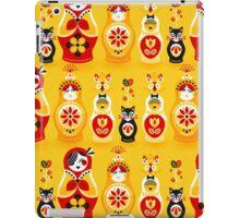 Russian Nesting Dolls – Yellow & Red iPad Case/Skin