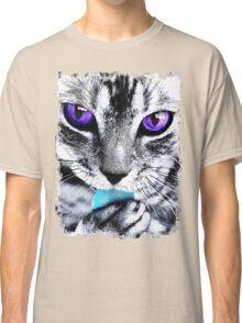 Purple eyes Cat Classic T-Shirt
