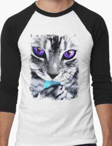 Purple eyes Cat Men's Baseball ¾ T-Shirt