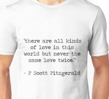 Quote 1 Great Gatsby Unisex T-Shirt