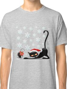 Christmas funny cats Classic T-Shirt