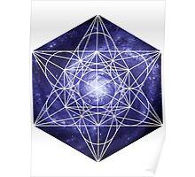 Pinwheel Blue Hue | Metatron Sacred Geometry Sticker Poster