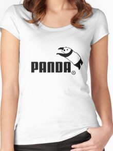 Panda Jump Parody Women's Fitted Scoop T-Shirt