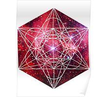 Scorpius Red | Metatron Sacred Geometry Sticker Poster