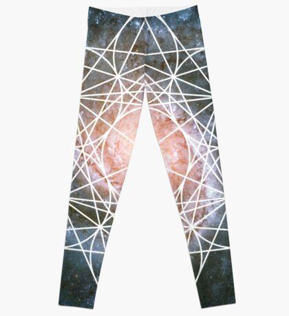 Pinwheel Galaxy   Metatron Sacred Geometry Sticker Leggings