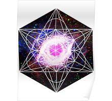 Helix Nebula | Metatron Sacred Geometry Sticker Poster