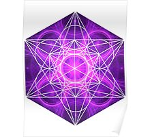 Purple Circles | Metatron Sacred Geometry Sticker Poster