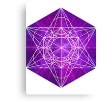 Mew's Sacred Energy [Close] | Metatron Sacred Geometry Sticker Canvas Print