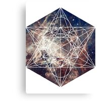 Star Clouds | Metatron Sacred Geometry Sticker Canvas Print