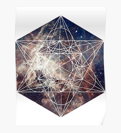 Star Clouds   Metatron Sacred Geometry Sticker Poster