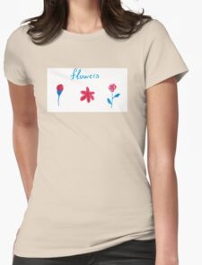 Hand draw flowers  Womens Fitted T-Shirt