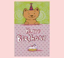 Happy birthday cat design card Baby Tee