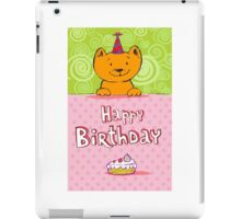 Happy birthday cat design card iPad Case/Skin