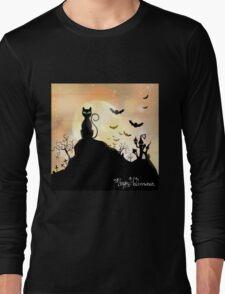 Silhouette halloween wallpaper Long Sleeve T-Shirt