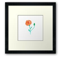 Hand draw flower Framed Print