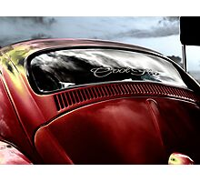 A touch of Goth ~ VW Beetle Photographic Print