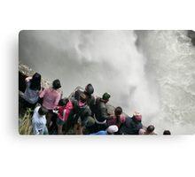 Pailon del Diablo falls  Canvas Print