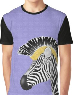 Trojan Zebra Close-Up Graphic T-Shirt