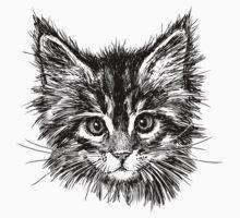 Hand drawn cats head  Baby Tee