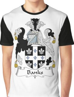Banks Coat of Arms / Banks Family Crest Graphic T-Shirt