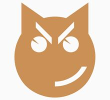 Smirking Emoji Cat One Piece - Short Sleeve
