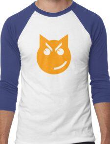 Smirking Emoji Cat Men's Baseball ¾ T-Shirt