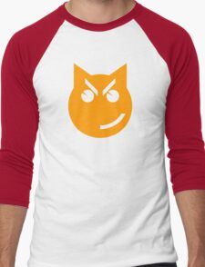 Smirking Emoji Cat Men's Baseball ¾ T-Shirt