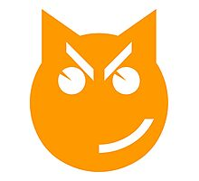 Smirking Emoji Cat Photographic Print